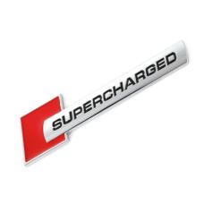 Supercharged Audi sárvédő felirat