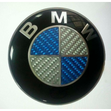 BMW -s KÉK-FEHÉR CARBON ( karbon ) embléma (74mm)
