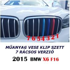 BMW X6 F16 -hoz M műanyag vese klip szett 7 rácsoshoz