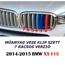 BMW X5 F15 -höz M műanyag vese klip szett 7 rácsoshoz
