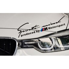 Produced by M Motorsport matrica - fekete