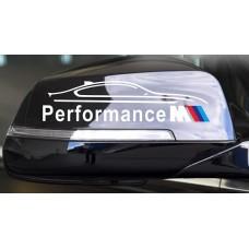 M Performance tükör matrica - fehér