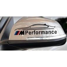 M Performance tükör matrica - fekete