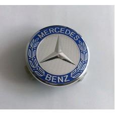 Mercedes -hez közép, (75 mm) SZETTben élénk kék-króm 1db