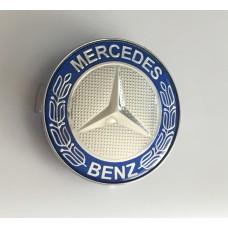 Mercedes -hez közép, (60 mm) SZETTben élénk kék-króm