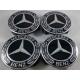 Mercedes -hez felni közép, kupak (75 mm) SZETTben új típusú / fekete