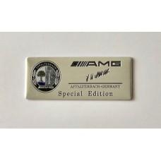 AMG Special edtition dísz plakett / tábla
