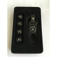 Mercedes -hez szelepsapka szett - kulcstartóval