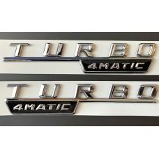 Turbo 4Matic felirat sárvédőre