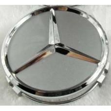 Mercedes -hez felni közép, kupak (75 mm) SZETTben ezüst - króm