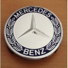 Mercedes -hez felni közép, kupak (75 mm) SZETTben kék-króm kalászos