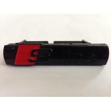 Audihoz S-line grill rács embléma - fényes fekete