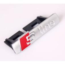 Audihoz S-line grill rács embléma - matt ezüst